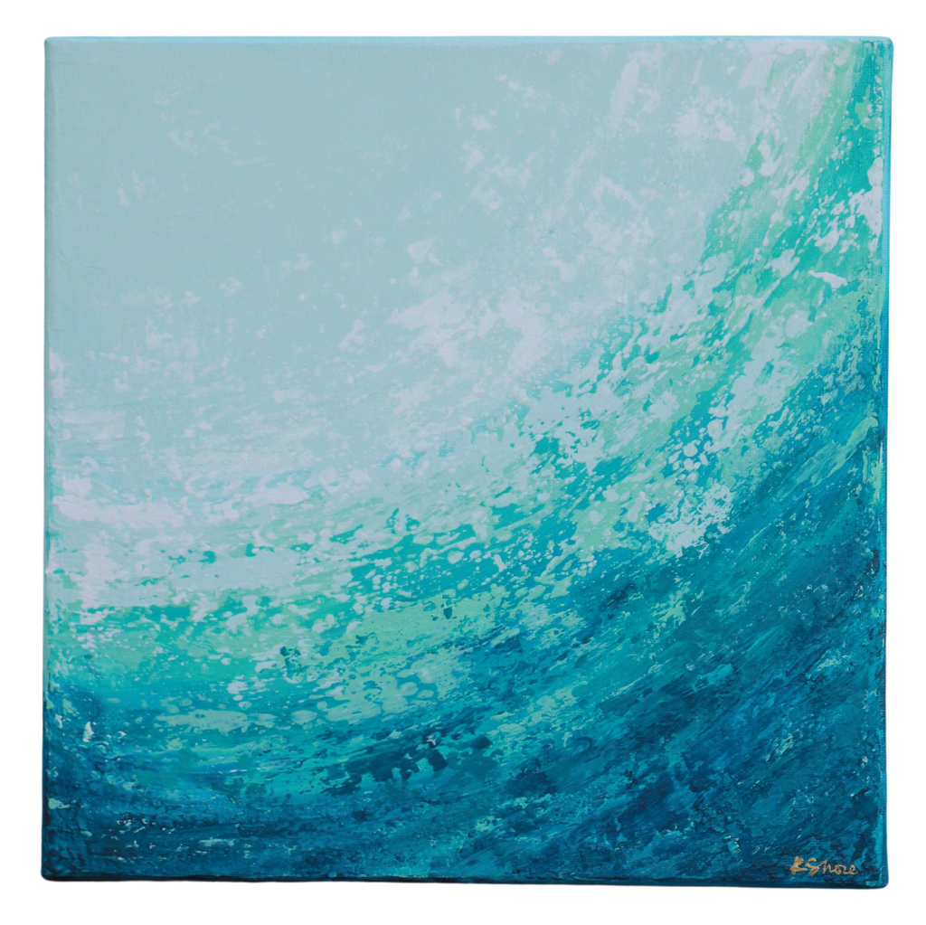 "SALE - 12"" x 12"" Original Painting - ""Sea Foam"""