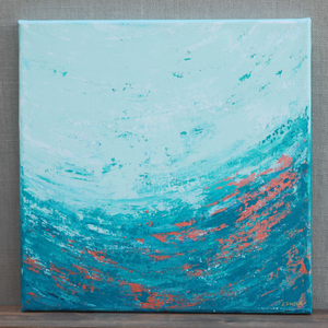 "SALE - ""Copper Sea"" 12"" x 12"" Original Acrylic Painting on Canvas"