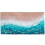 "Abstract Coastal Wall Art | ""Heat Wave"" 