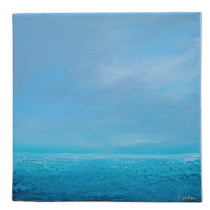 "Small Abstract Seascape Painting | ""Morning Mist"" 