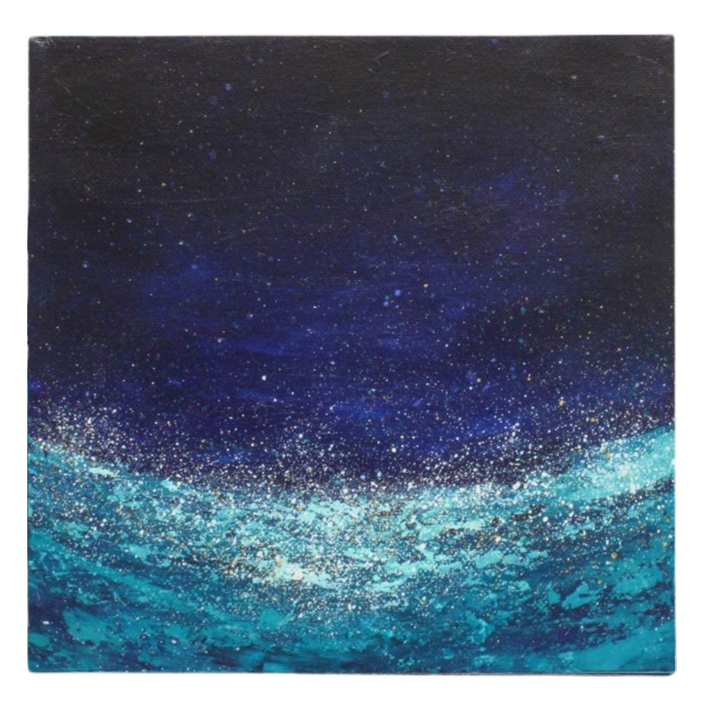 "Abstract Painting of Ocean at Night | ""Glow"" 