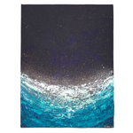 "Dark Blue Abstract Wall Art | ""Bioluminescent"" 