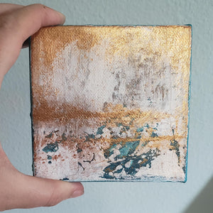 "Mini Original Acrylic Painting on Canvas | 4""x4"" 