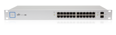Ubiquiti UniFi Switch - 24 Ports - Manageable - 2 Layer Supported - 250 W-  1U High - Rack-mountable - 1 Year Limited POE
