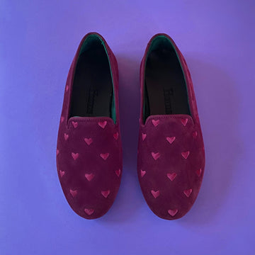 HUMS EMBROIDERED HEART SLIPPER / AVAILABLE FOR PRE-ORDER ONLY