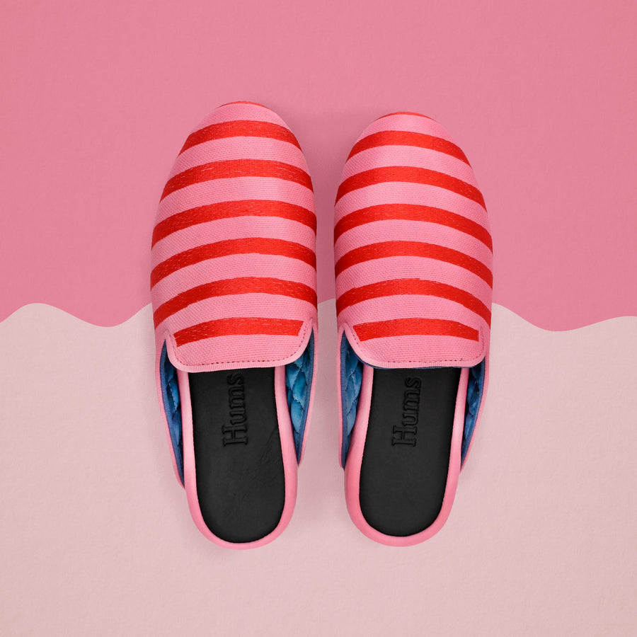 Hums Candy Stripe Open Slipper