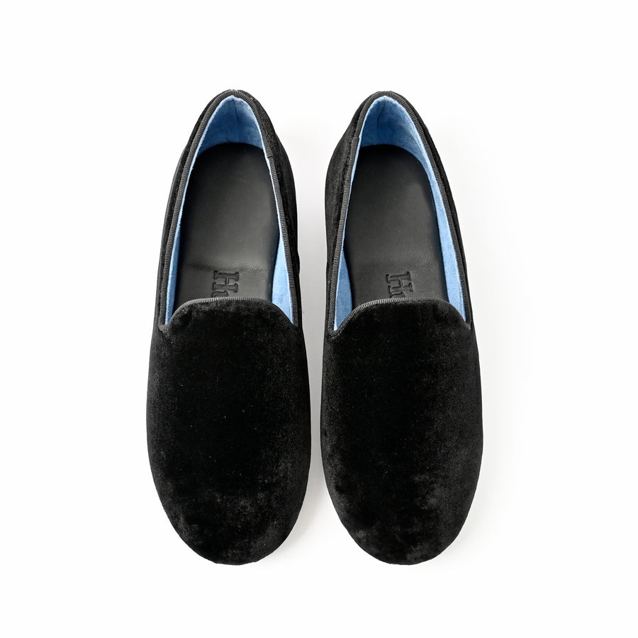 Hums Black Velvet Magic Loafer