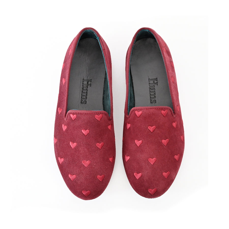 Hums Slippers - Secret Heart Suede Loafers