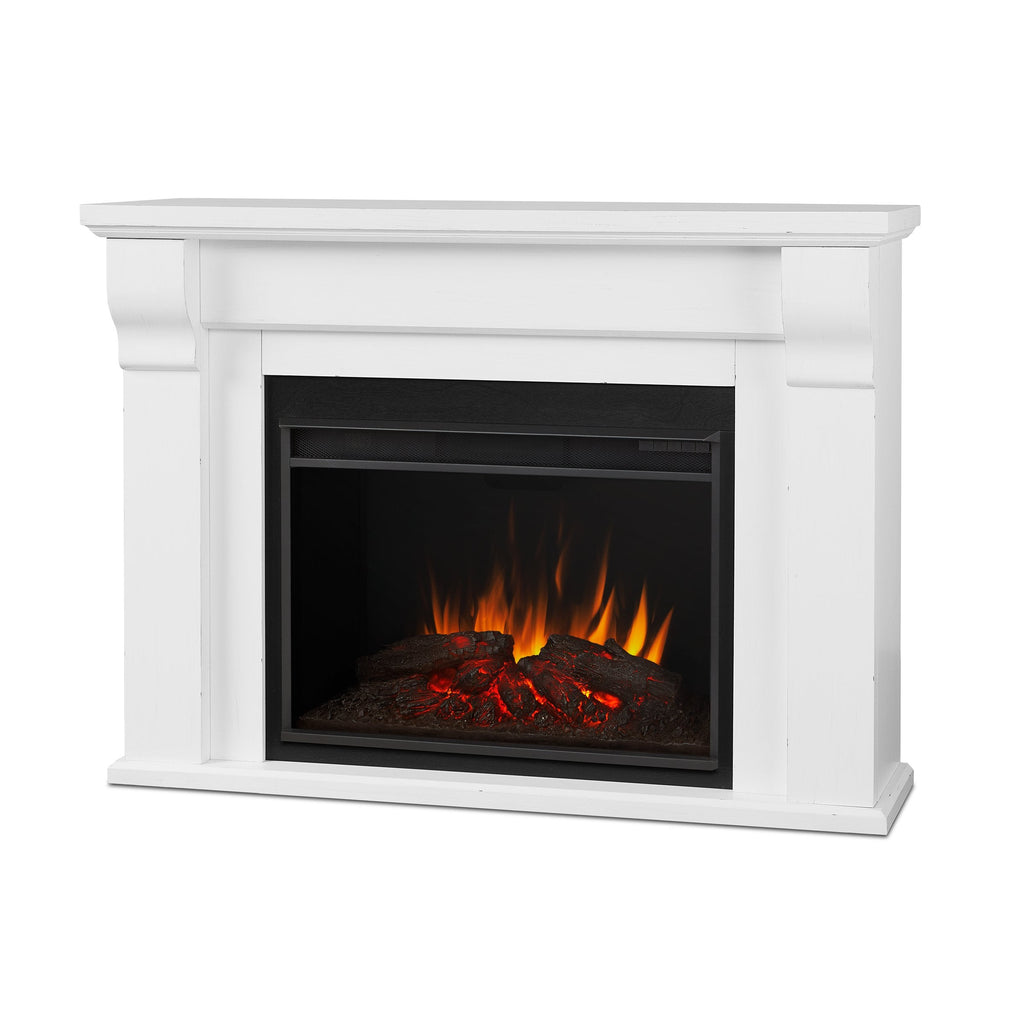 Real Flame 8440E-RW Whittier Grand Electric Fireplace in Rustic White