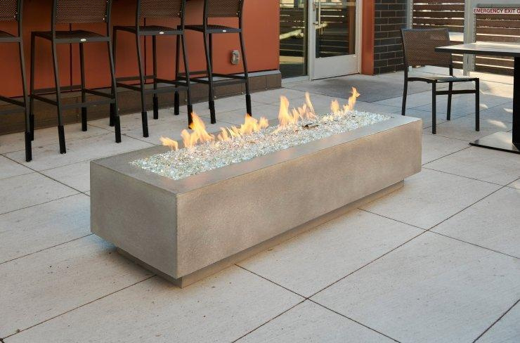 "Outdoor Greatroom Company Cove 72"" Linear Gas Fire Table CV-72"