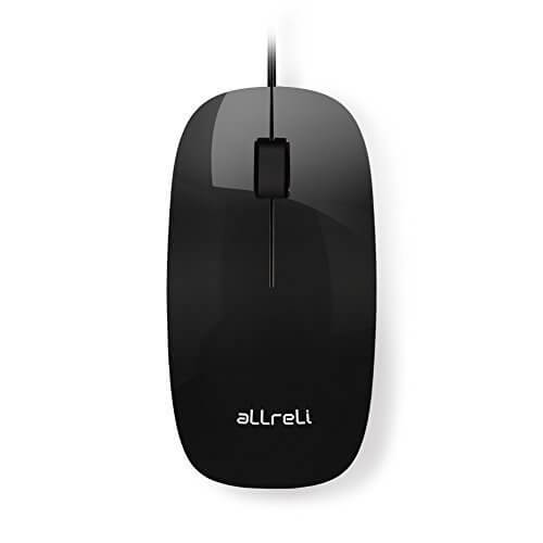 aLLreLi M111BU USB Optical Mouse For Mac & PC