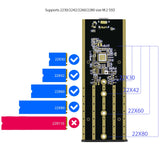 TDBT SuperC supports 2230/2242/2260/2280 size M.2 NVMe SSD