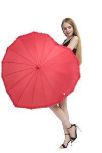 Cheap fashionable Red Heart Umbrella. The best that you can have.  Buy it best offer