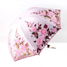 Load image into Gallery viewer, The Fashion luxurious Flower Umbrella