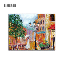 Load image into Gallery viewer, The  Modern Art Handmade Painting Girl white Umbrella