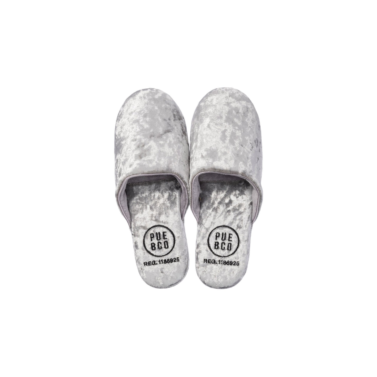 Velvet Slipper Small Silver