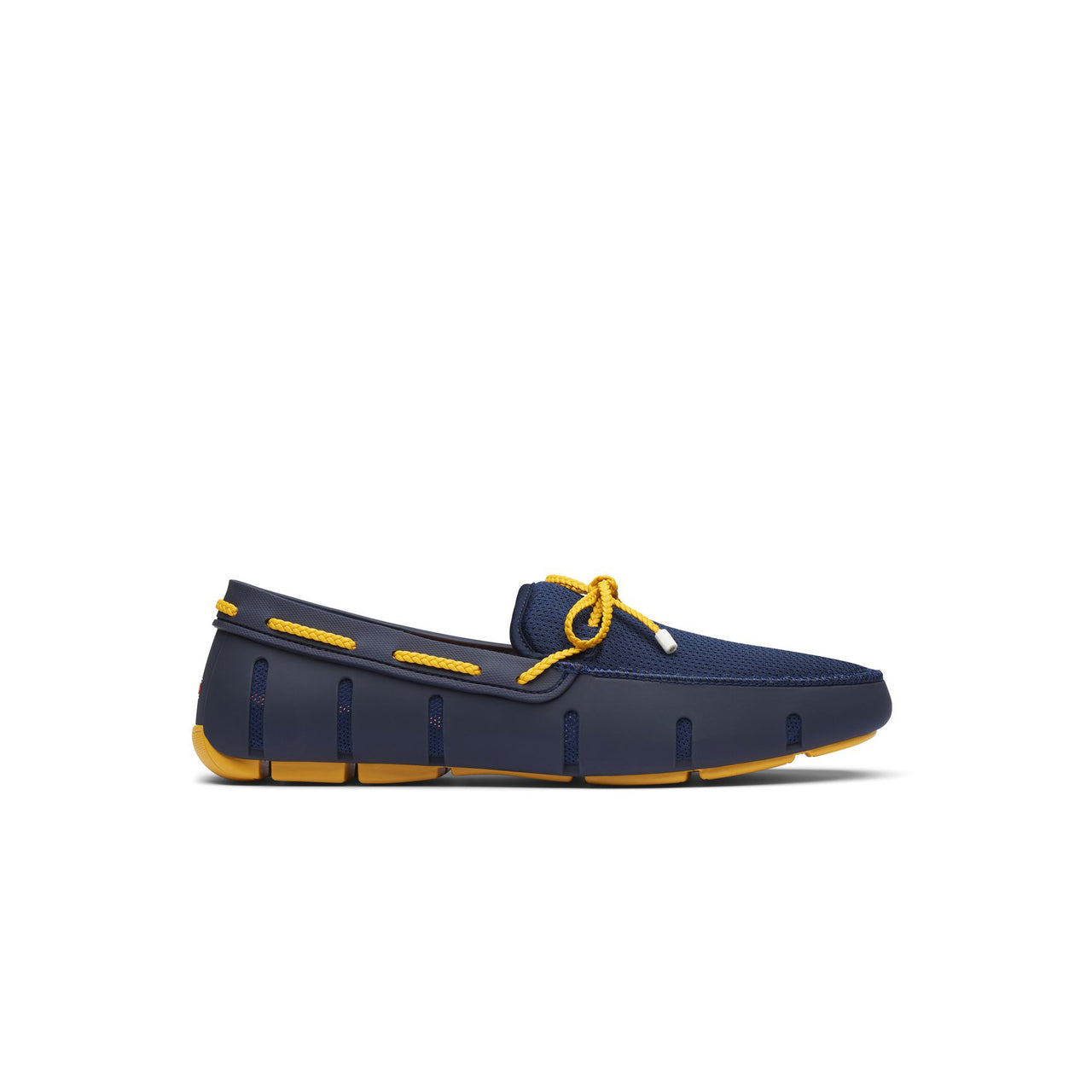 Swims Men's Braided Lace Loafer In Navy-Gold Fusion