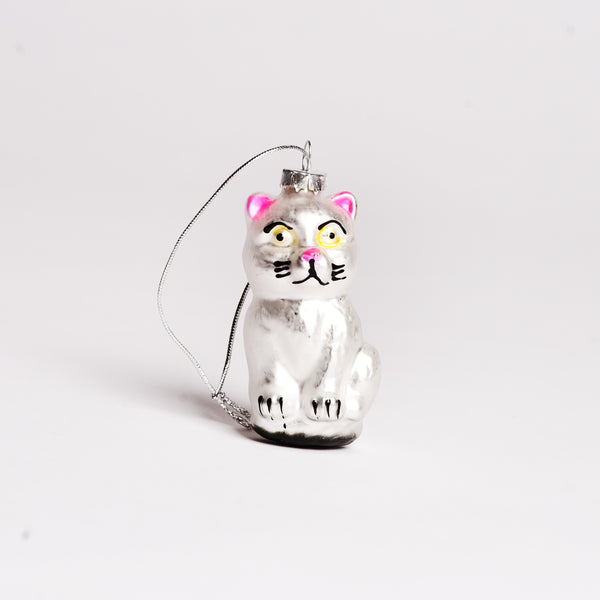 Glass Ornament - Kitten