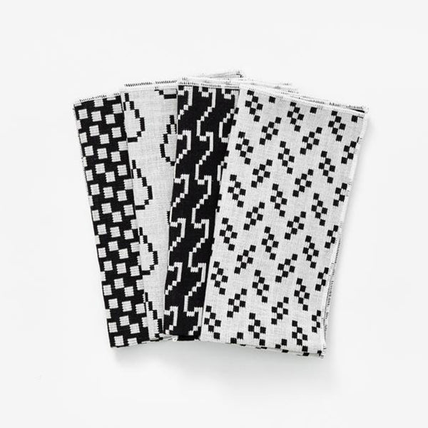 Bitmap Napkins (set of 4) - Black/White