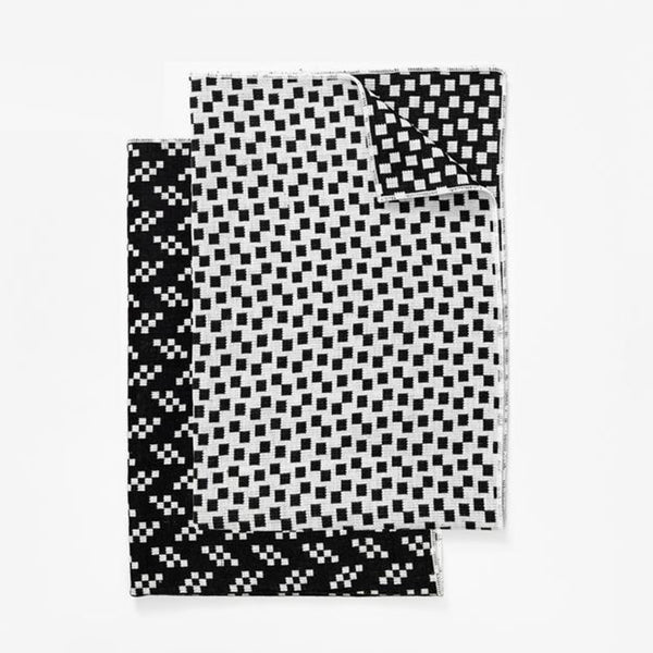 Bitmap Tea Towel (set of 2) - Black/White