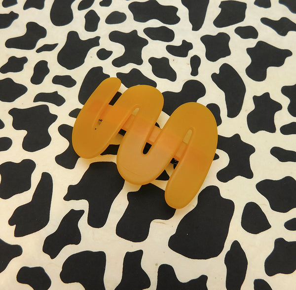 Yellow Wave Barrettes