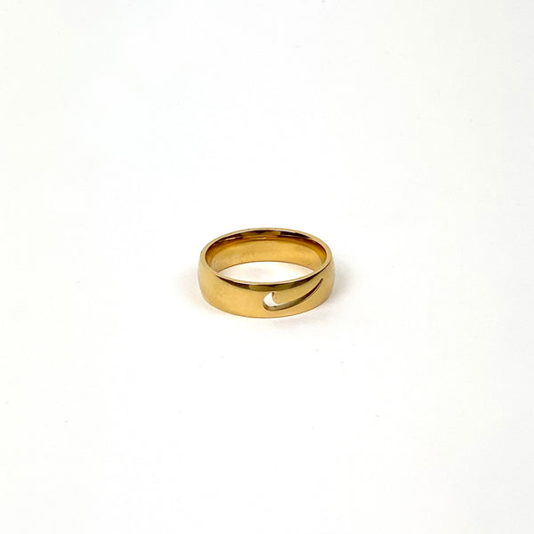 Gold Nike Cut Out Ring
