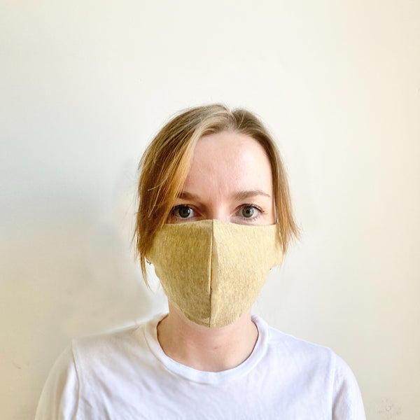 Adult Jersey Mask - Heather Yellow
