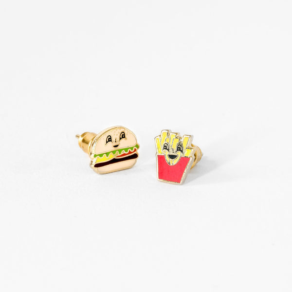 Burger/Fries Earring Set