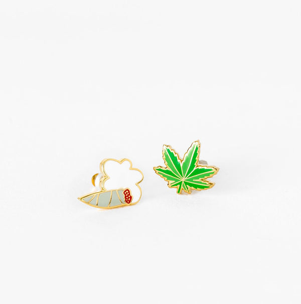 Weed Earring Set