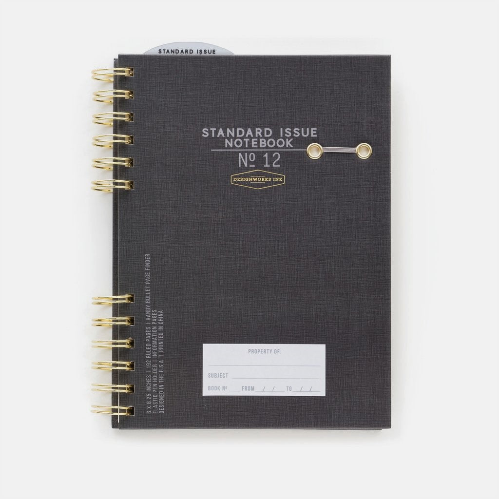 Standard Issue Planner Notebook No.12 - Black