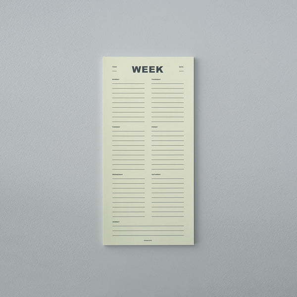 Week Planner - Light Yellow