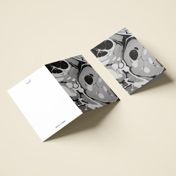 Marbled Notecard - Black