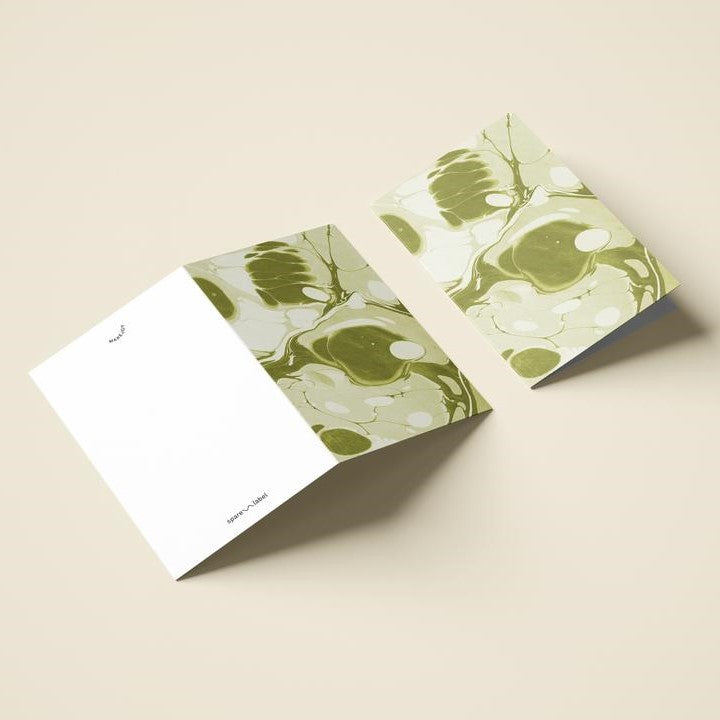 Marbled Notecard - Green