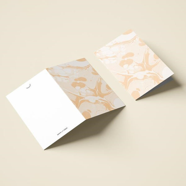 Marbled Notecard - Peach