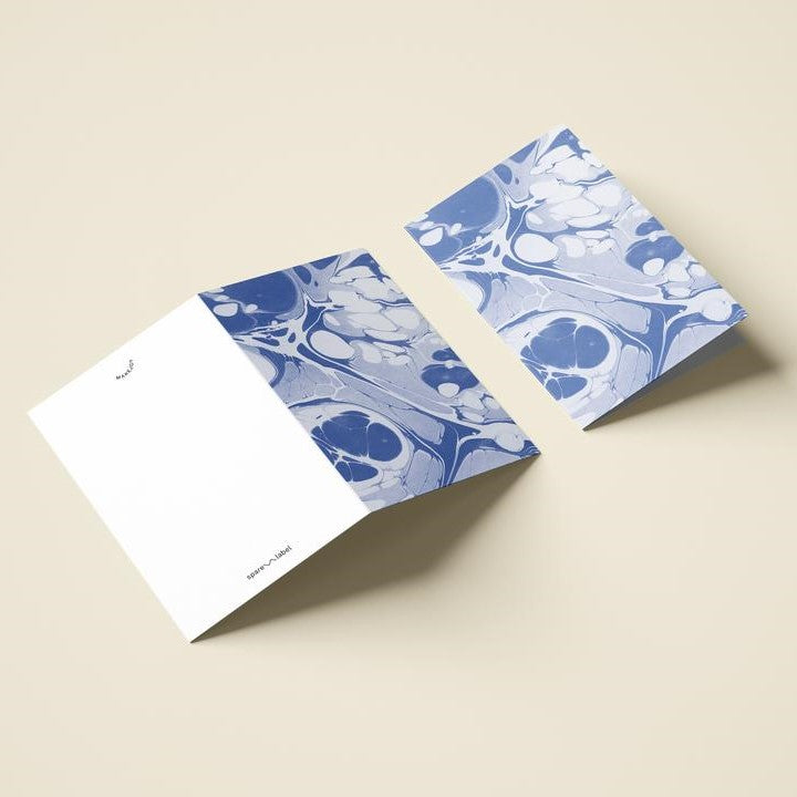Marbled Notecard - Periwinkle