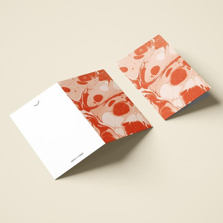Marbled Notecard - Poppy