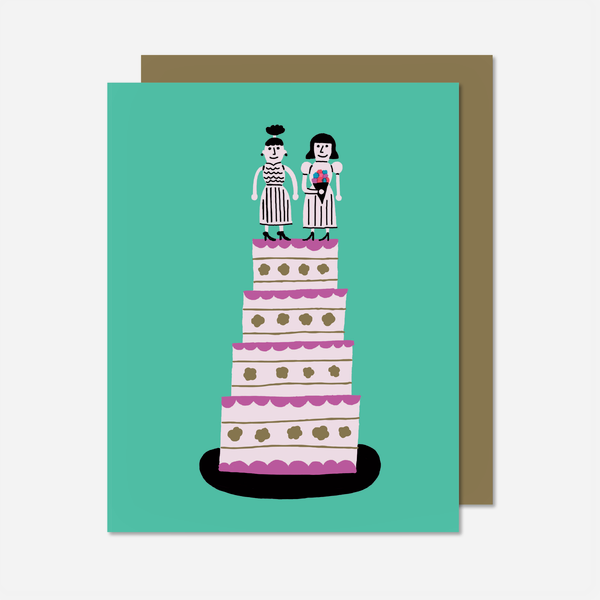 Marriage Cake Women Card