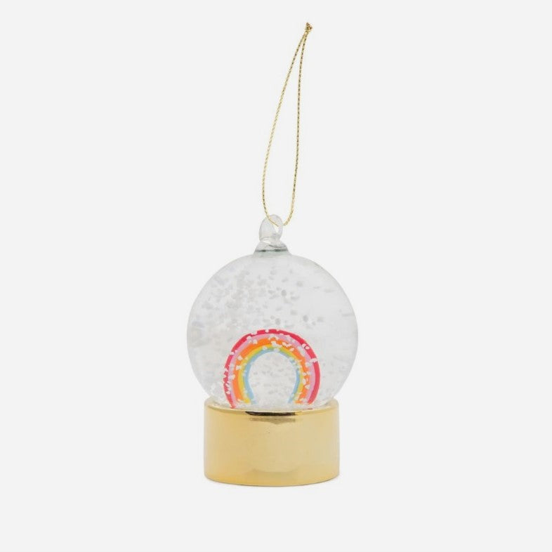 Snowglobe Ornament - Rainbow