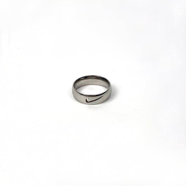 Silver Nike Cut Out Ring