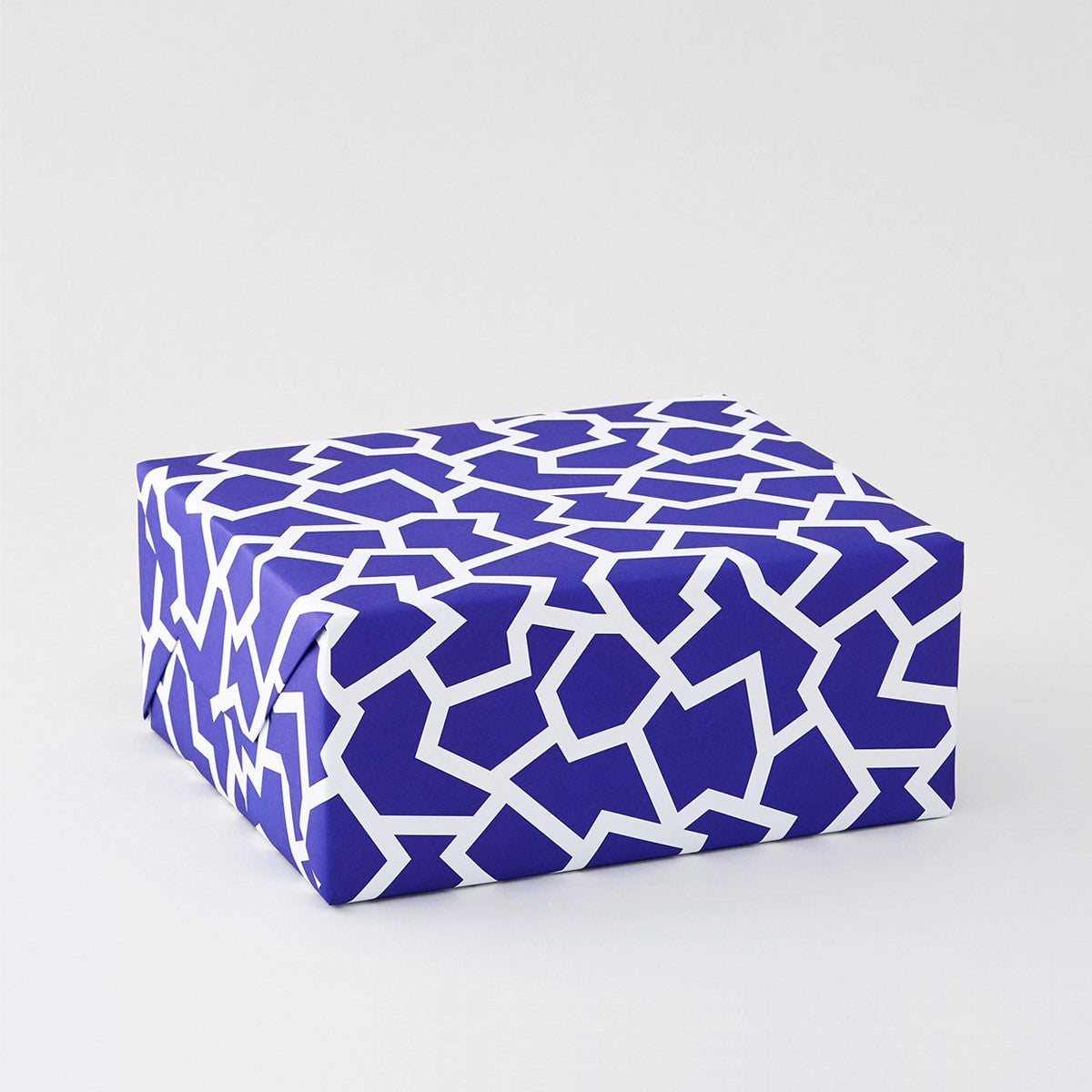 Fracture Blue Wrapping Paper