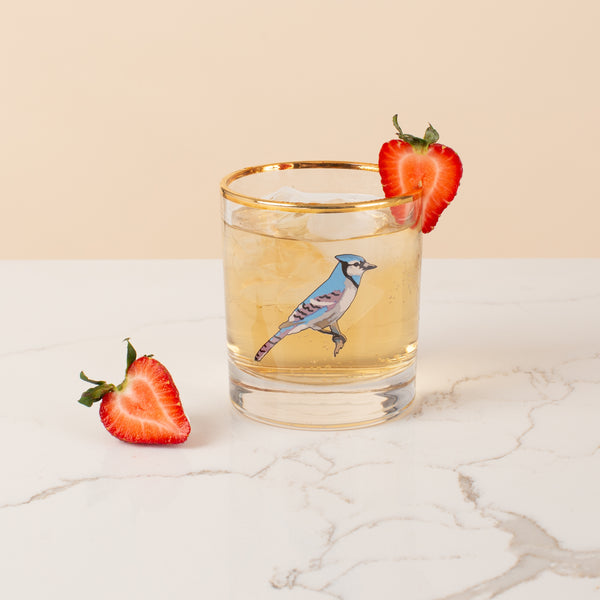 Bar Glass - Blue Jay