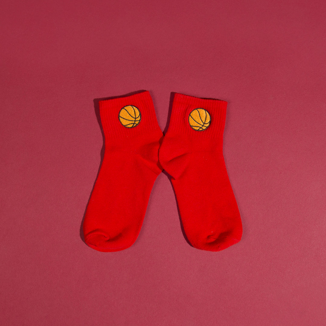Basketball Embroidered Socks