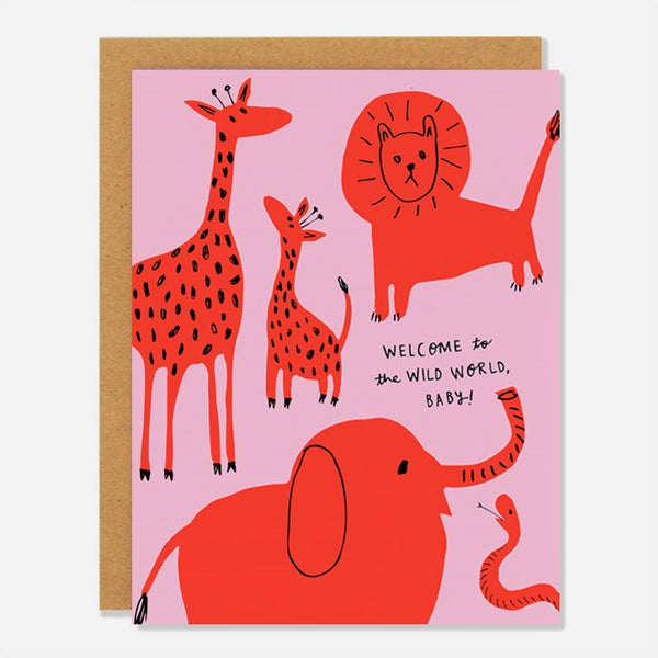Wild World Baby Card