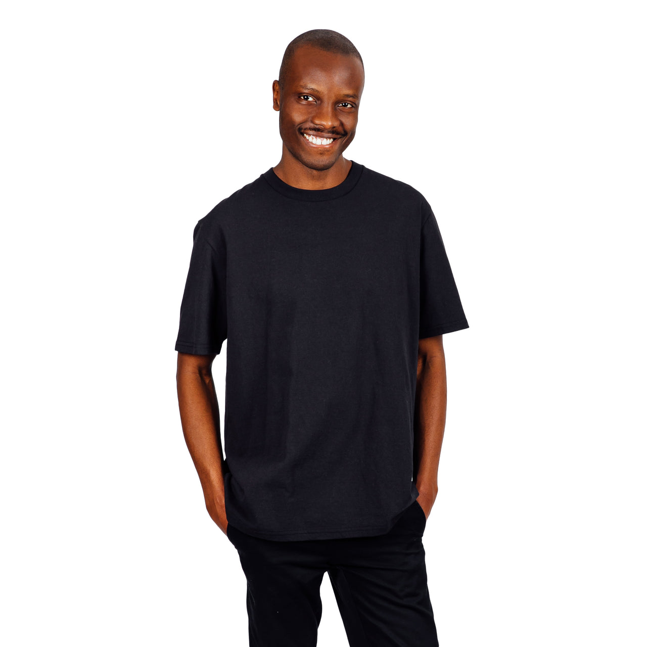 Current Fit Carded Cotton Tee - Black