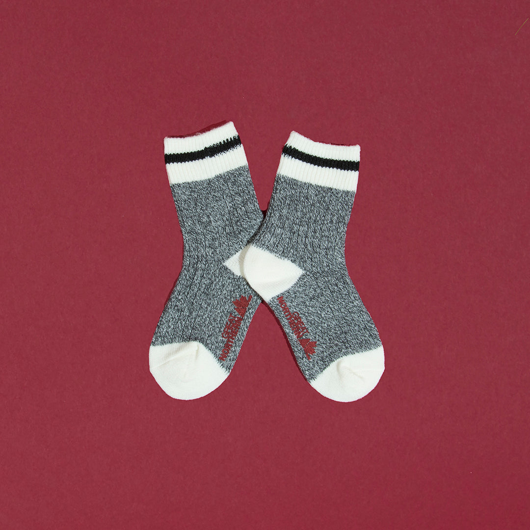 Kids Camp Socks - Black Stripe