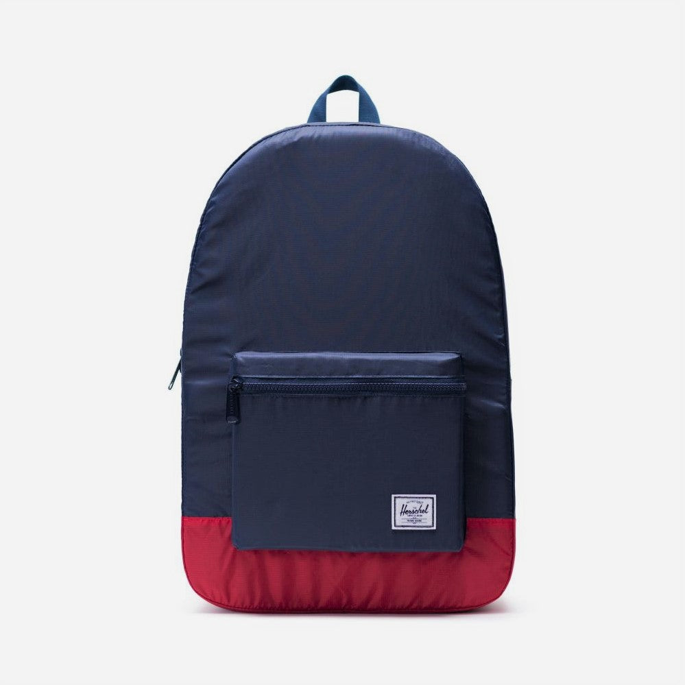 Packable Daypack - Navy/Red