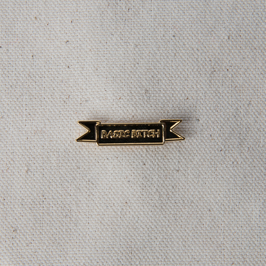 Enamel Pin - Basic Bitch