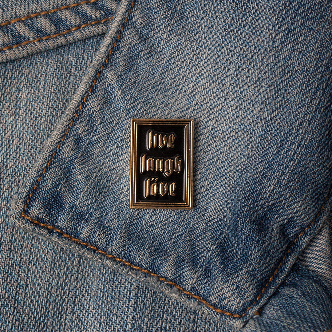 Enamel Pin - Live Laugh Love