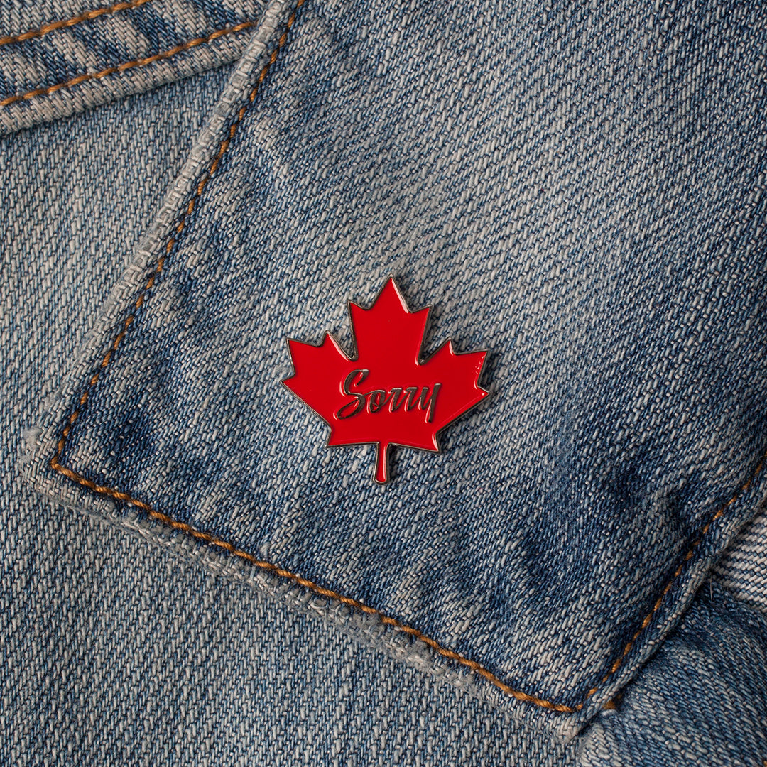 Enamel Pin - Sorry Maple Leaf