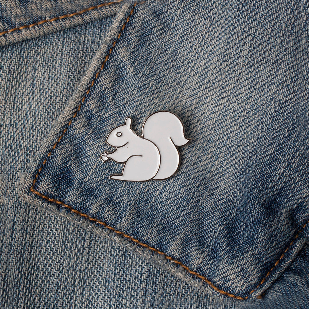 Enamel Pin - White Squirrel